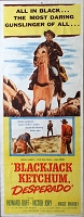 Blackjack Ketchum, Desperado, 1956, Howard Duff, Original Insert, (14x36)