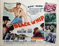 Black Whip, 1956, Hugh Marlowe, Original Half Sheet, (22x28)