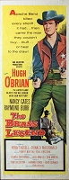 Brass Legend, 1956, Hugh O'Brian, Original Insert, (14x36)