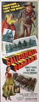 California Passage, 1950, Forrest Tucker, Original Insert, (14x36)