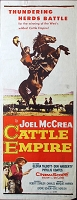 Cattle Empire, 1958, Joel McCrea, Original Insert, (14x36)