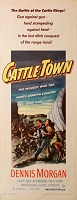 Cattle Town, 1952, Dennis Morgan, Original Insert, (14x36)
