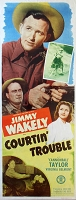 Courtin Trouble, 1948, Jimmy Wakely, Original Insert, (14x36)