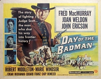 Day of the Badman, 1958, Fred MacMurray , Original Half Sheet,  (22x28)