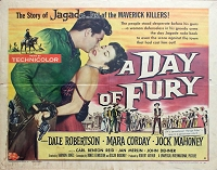 Day of Fury, 1956, Dale Robertson, Original Half Sheet, Style B  (22x28)