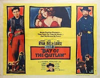 Day of the Outlaw, 1959, Robert Ryan , Original Half Sheet, Style B (22x28)