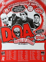 DOA, Appearance Poster, Circa 1998, 18 x 24 , Guaranteed Original!
