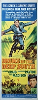 Drums in the Deep South, 1951,  James Craig,  Original Insert, (14x36