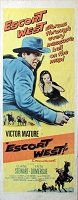 Escort West, 1959, Victor Mature, Original Insert, (14x36