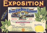 Exposition Brand, Original Crate Label, Circa 1920's, 12.50x8.75