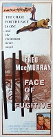 Face of a Fugitive, 1959, Fred MacMurray, Original Insert, (14x36