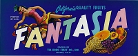 Fantasia Brand, Original Crate Label, Circa 1950's, 13x5.25