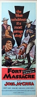 Fort Massacre, 1958, Joel McCrea, Original Insert, (14x36