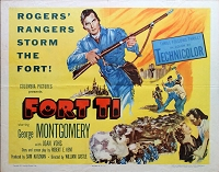 Fort Ti, 1953, George Montgomery, Original Half Sheet (22x28)