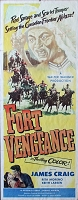 Fort Vengeance, 1953, James Craig, Original Insert, (14x36
