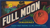 Full Moon Brand, Original Crate Label, Circa 1940's,8x4.5