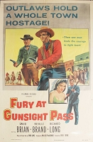 Fury at Gunsight Pass, 1956, David Brian, Original 1 Sheet (27x41)