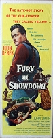 Fury at Showdown, 1957, John Derek, Original Insert, (14x36