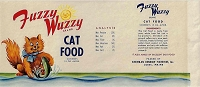 Fuzzy Wuzzy Brand, Original Can Label, Circa 1950's, 9.5x4.125