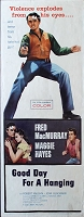 Good Day for a Hanging, 1959, Fred MacMurray, Original Insert, (14x36