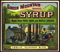 Green Mountain Brand, Original Can Label, Circa 1900's, 4x4.5