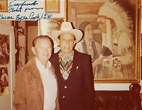 Iron Eyes Cody, 1907-1999, Actor,  Autographed Candid Photo (3.5x4.5)