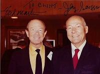 Jerry Scoggins 1911-2004, Fred Martin, Candid Autographed Photo (4x6)