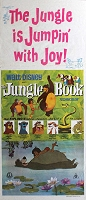 Jungle Book, R72, Disney Animation, Re-Release Australian Daybill (13x30)