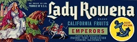 Lady Rowena Brand, Original Crate Label, Circa 1960's, 13x4