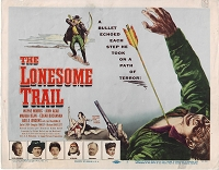Lonesome Trail, Title Card , 1955, 11x14