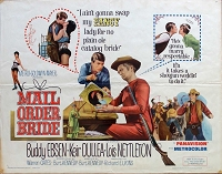 Mail Order Bride, 1964, Buddy Ebsen, Original Half Sheet, (22x28)