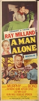 Man Alone, 1955, Ray Milland, Original Insert, (14x36)