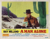 A Man Alone, Original Lobby Card , 1955, 11x14