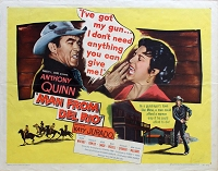 Man from Del Rio, 1956, Anthony Quinn, Original Half Sheet, (22x28)