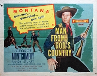 Man from God's Country, 1956, George Montgomery, Original Half Sheet, (22x28)
