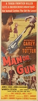 Man or Gun, 1958, MacDonald Carey, Original Insert, (14x36)