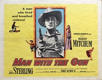 Man with the Gun, 1955, Robert Mitchum, Original Half Sheet, Style A (22x28)