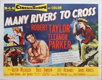 Many Rivers to Cross, 1955, Robert Taylor, Original Half Sheet, Style B (22x28)