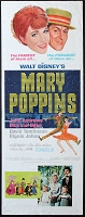 Mary Poppins, 1964, Julie Andrews, Original Insert, (14x36)