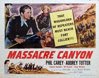 Massacre Canyon, 1954, Phil Carey, Original Half Sheet, (22x28)
