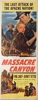 Massacre Canyon, 1954, Phil Carey, Original Insert, (14x36)