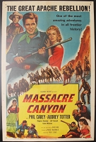 Massacre Canyon, 1954, Phil Carey, Original 1 Sheet (27x41)