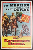 Matchmaking Marshall, 1955, Guy Madison, Original 1 Sheet (27x41)