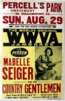 Maybelle Sieger 1954 Appearance Poster. 17x26