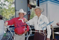 Montie Montana,  Jerry Scoggins, Autographed Candid Photo (4x6)
