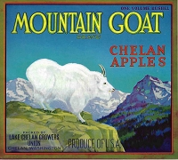 Mountain Goat Brand, Original Crate Label, Circa 1940's, 10.5x7.5