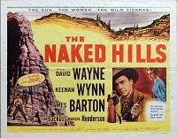 Naked Hills, 1956, David Wayne, Original Half Sheet, Style B (22x28)