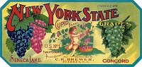 New York State Cupid Brand, Original Crate Label, Circa 1920's, 10.25x4.25