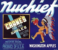 Nuchief Brand, Original Crate Label, Circa 1940's, 10.00x8.75