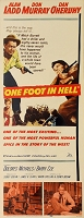 One Foot in Hell, 1960, Alan Ladd, Original Insert, (14x36)